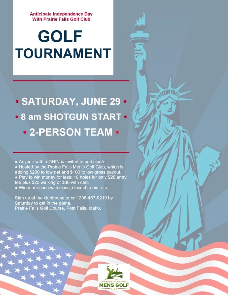 June 29 Golf Tournament